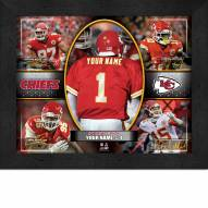 Kansas City Chiefs Personalized 11 x 14 Framed Action Collage