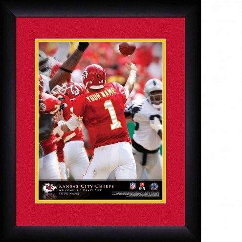 Kansas City Chiefs Personalized 13 x 16 NFL Action QB Framed Print