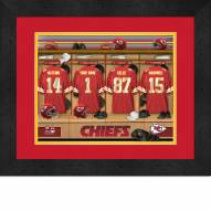 Kansas City Chiefs Personalized Locker Room 13 x 16 Framed Photograph