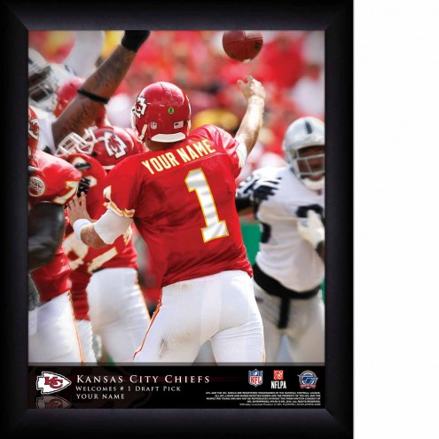 Kansas City Chiefs Personalized 11 x 14 NFL Action QB Framed Print