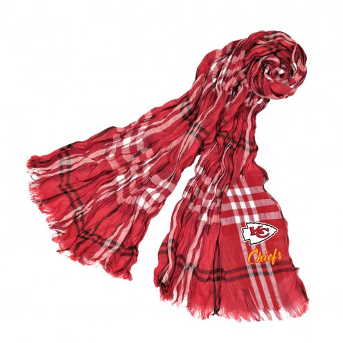 Kansas City Chiefs Plaid Crinkle Scarf