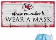 Kansas City Chiefs Please Wear Your Mask Sign