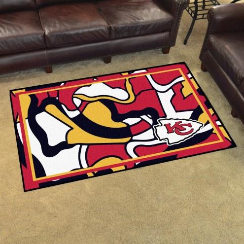 Kansas City Chiefs Quicksnap 4' x 6' Area Rug