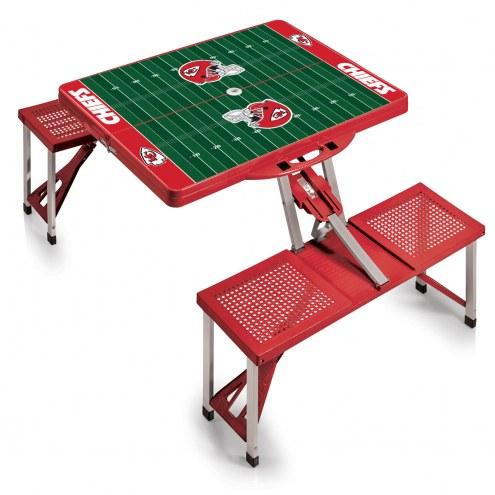 Kansas City Chiefs Red Folding Picnic Table