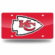 Kansas City Chiefs Red Laser Cut License Plate