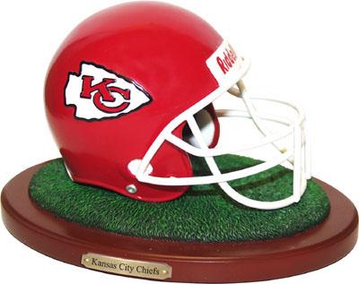 Kansas City Chiefs Collectible Football Helmet Figurine
