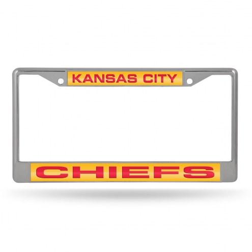 Kansas City Chiefs Laser Chrome License Plate Frame
