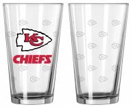 Kansas City Chiefs Satin Etch Pint Glass - Set of 2