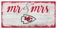 Kansas City Chiefs Script Mr. & Mrs. Sign