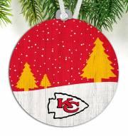 Kansas City Chiefs Snow Scene Ornament