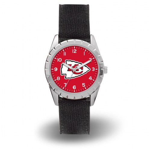 Kansas City Chiefs Sparo Men's Nickel Watch