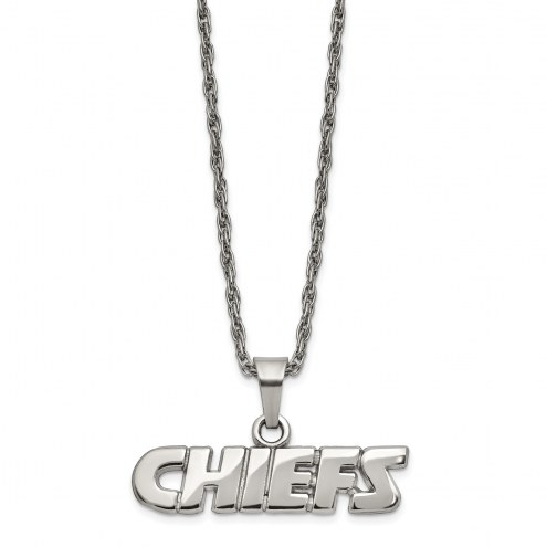 Kansas City Chiefs Stainless Steel Pendant on Chain