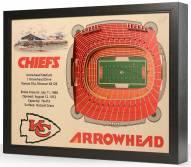 Kansas City Chiefs 25-Layer StadiumViews 3D Wall Art