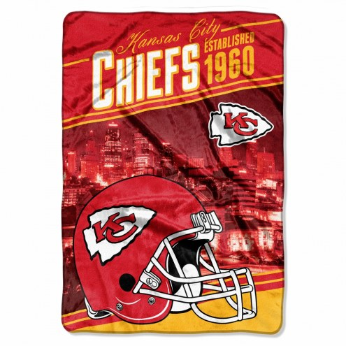 Kansas City Chiefs Stagger Raschel Blanket