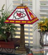 Kansas City Chiefs Stained Glass Mission Table Lamp