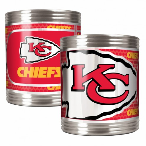 Kansas City Chiefs Stainless Steel Hi-Def Coozie Set