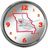Kansas City Chiefs State of Mind Chrome Clock