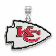 Kansas City Chiefs Sterling Silver Enamel Pendant