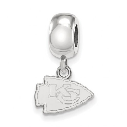 Kansas City Chiefs Sterling Silver Extra Small Dangle Bead Charm