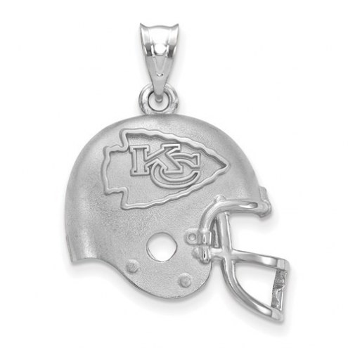 Kansas City Chiefs Sterling Silver Football Helmet Logo Pendant