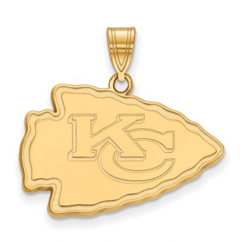 Kansas City Chiefs Sterling Silver Gold Plated Large Pendant