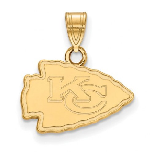 Kansas City Chiefs Sterling Silver Gold Plated Small Pendant