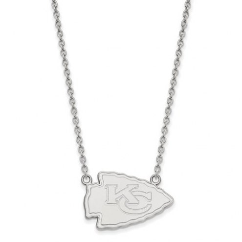 Kansas City Chiefs Sterling Silver Large Pendant with Necklace