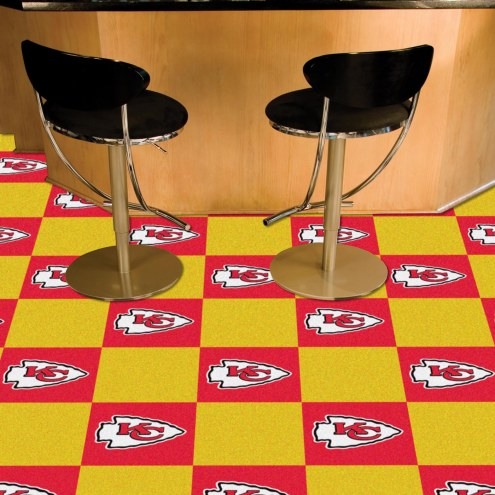 Kansas City Chiefs Team Carpet Tiles