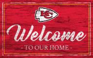 Kansas City Chiefs Team Color Welcome Sign