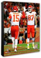 Kansas City Chiefs Travis Kelce & Patrick Mahomes Action Photo