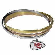Kansas City Chiefs Tri-color Bangle Bracelet
