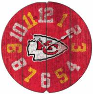 Kansas City Chiefs Vintage Round Clock