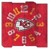 Kansas City Chiefs Vintage Square Clock