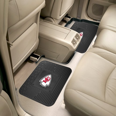 Kansas City Chiefs Vinyl 2-Piece Rear Floor Mats