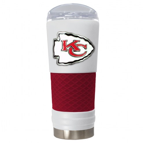 Kansas City Chiefs White 24 oz. Powder Coated Draft Tumbler