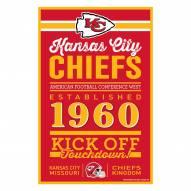 Kansas City Chiefs Established Wood Sign