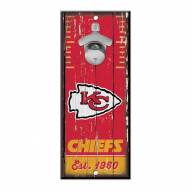 Kansas City Chiefs Wood Bottle Opener