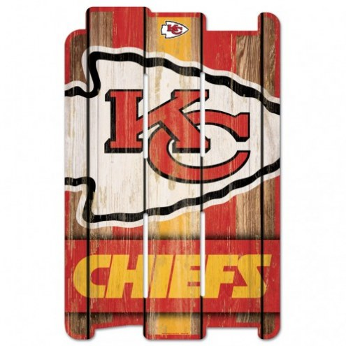 Kansas City Chiefs Wood Fence Sign