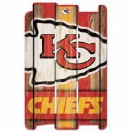 Kansas City Chiefs Wood Fence Sign