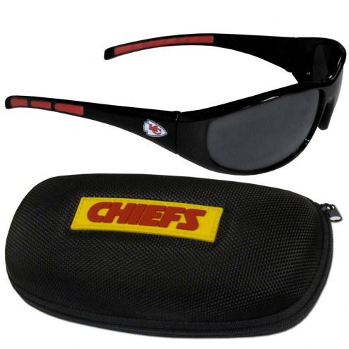 Kansas City Chiefs Wrap Sunglasses and Case Set
