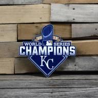 "Kansas City Royals 12"" 2015 World Series Steel Logo Sign"