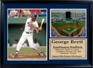"Kansas City Royals 12"" x 18"" George Brett Photo Stat Frame"