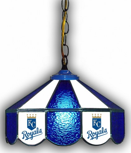 "Kansas City Royals 14"" Glass Pub Lamp"