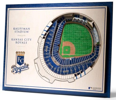 Kansas City Royals 5-Layer StadiumViews 3D Wall Art