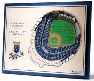 Kansas City Royals 5-Layer StadiumViews 3D Wall Art
