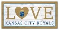 "Kansas City Royals 6"" x 12"" Love Sign"