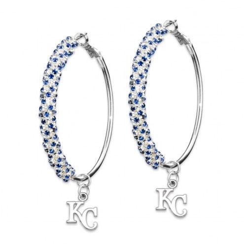 Kansas City Royals Amped Logo Crystal Earrings