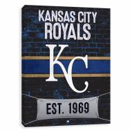Kansas City Royals Brickyard Printed Canvas