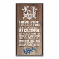 Kansas City Royals Family Rules Icon Wood Framed Printed Canvas
