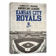 Kansas City Royals Newspaper Stadium Printed Canvas